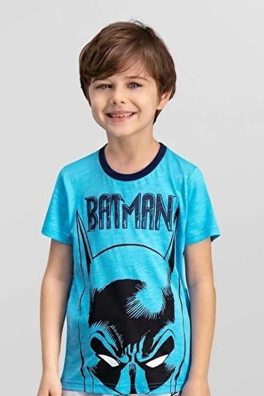Batman Lisanslı Erkek Çocuk T-Shirt Mavi